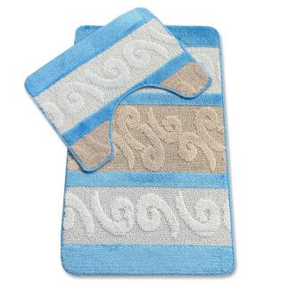 dywan łazienkowy niebieski