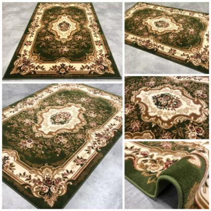 gruby dywan klasyczny zielony