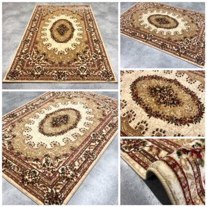 klasyczny dywan rozeta beż