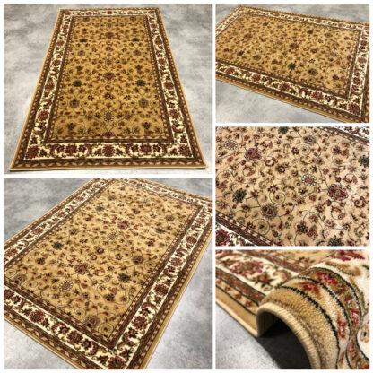 tradycyjny dywan beżowy gęsty