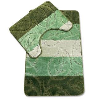 zielony komplet łazienkowy