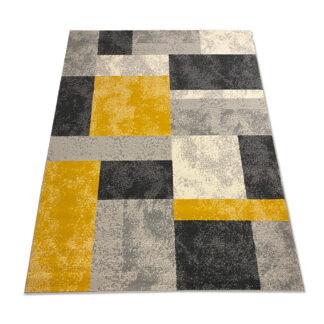 dywan w kwadraty żółte