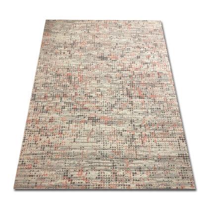 szaro różowy dywan w kropki