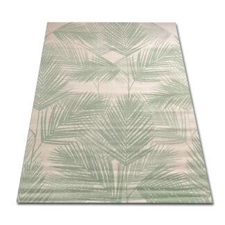 dywan w liście zielone