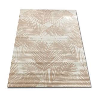 Kremowy dywan w liście