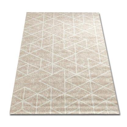 Kremowy dywan geometryczny
