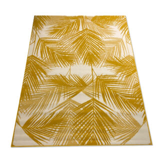 Nowoczesny dywan w żółty liść