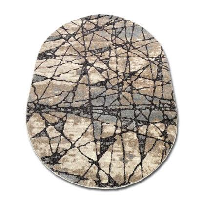 Gruby dywan owalny