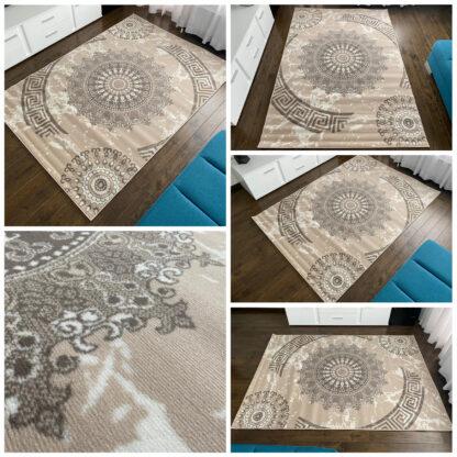 kremowy dywan folk