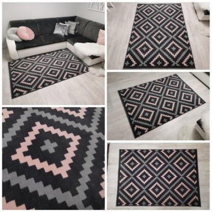rozowy dywan w romby