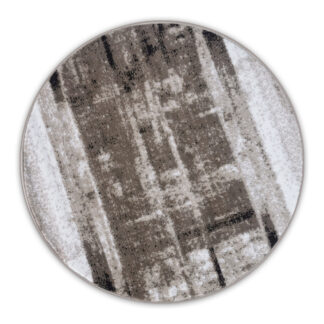 modny okrągły dywan przecierany