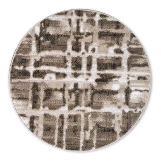 brązowy dywan okrągły