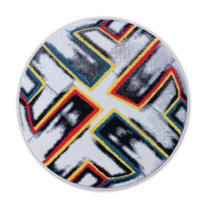 okrągły dywan piłka